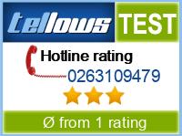 tellows Bewertung 0263109479