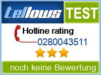 tellows Bewertung 0280043511