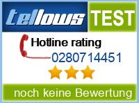 tellows Bewertung 0280714451