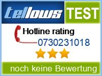 tellows Bewertung 0730231018